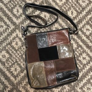 Fossil Patchwork Leather & Suede Crossbody